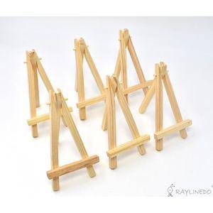 CHEVALET DE PEINTRE 6pcs 5inch Mini-Chevalet triangulaire en bois Déco