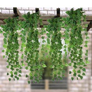 FLEUR ARTIFICIELLE 2 pcs vert fleur artificielle feuille Scindapsus p