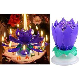 BOUGIE ANNIVERSAIRE Belle Fleur de Lotus anniversaire Bougies de rotat