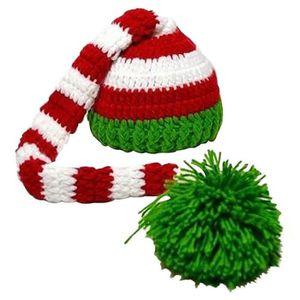 f60f81402414 BONNET - CAGOULE Bonnet en tricot a queue longue Bonnet de Noel en