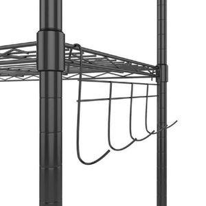 PENDERIE MOBILE étagère à fil de 6 niveaux Rangement de l'organe d