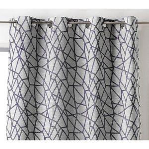RIDEAU Linder 0977-92-375FR Rideau Motif Géométrique Poly
