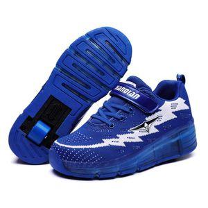 SKATESHOES Baskets Enfants Heelys Chaussures à Roulettes USB