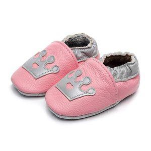 8f3cd7ef9b1c4 CHAUSSON - PANTOUFLE Chaussons Bébé Cuir Souple Chaussures Premiers Pas