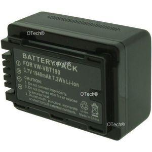 BATTERIE APPAREIL PHOTO Batterie OTech pour PAN VW-VBT190 3.7V Li-Ion 1940