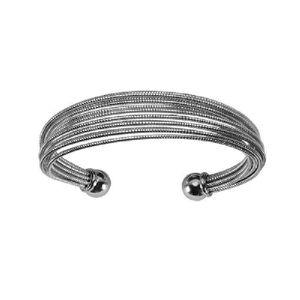 7030a26f10dc5b Bracelet Esclave Femme Fils Ronds Torsadés Acier - Achat   Vente ...