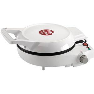 GRILL ÉLECTRIQUE Cuiseur multifonctions blanc perle 1500w tarte rév