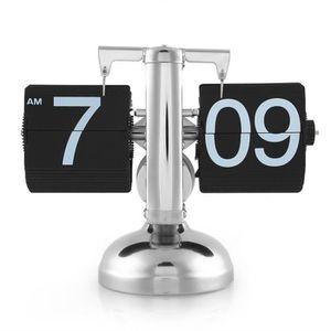 HORLOGE - PENDULE Flip Horloge Rétro Échelle Numérique Stand Auto Fl