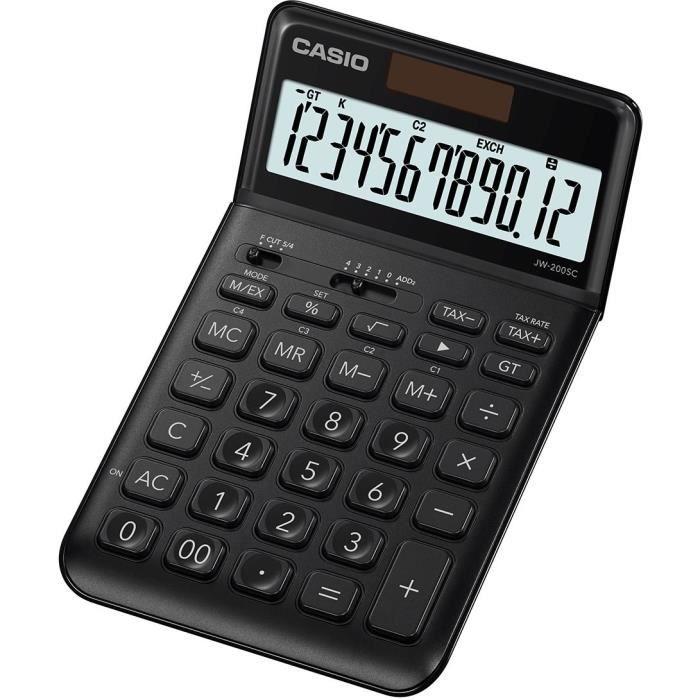 CASIO Calculatrice de poche JW-200SC-BK-S-EP noire