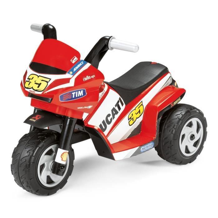 MINI DUCATI Moto 3 Roues 6V pour Enfant