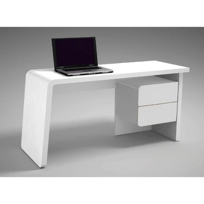 Bureau Design Fluency Atylia Couleur Blanc Achat Vente Bureau Un