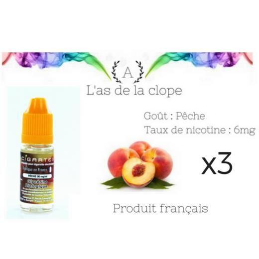 886c9b0cfa8 Lot de 3 e-liquides 10ml Peche Bio 100% Français 6mg - Achat   Vente ...