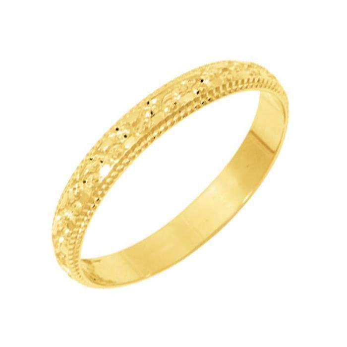 alliance fantaisie en or jaune pour homme ou femme or jaune - achat