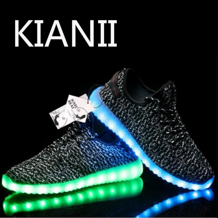Kianii-Chaussure a Led 7 Couleur USB Charge Homme Chaussures Lumineuses LED Noir z8Q0bRXJ
