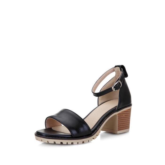 Sandales bout fermé T Bar Perles Imitation Chaussures Ornement 8550528 D9pTGp