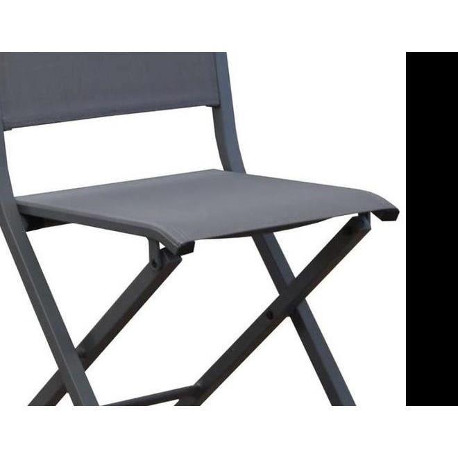 CHAISE Chaise Pliante En Aluminium Florence Lot De 6 Gr