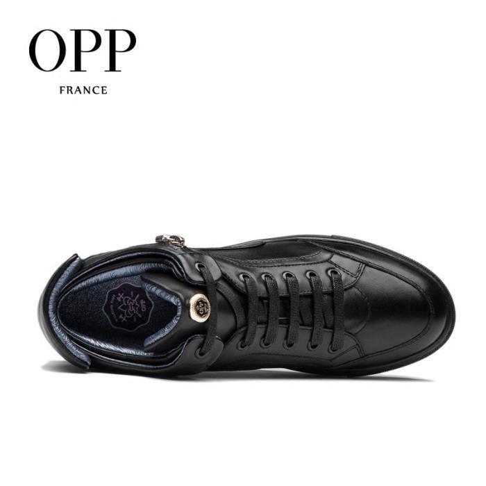 OPP Bottine Cuir Chaussures Homme 6616-1noir45