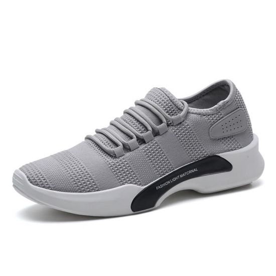 Basket Chaussure Homme Ultra Comfortable Occasionnelles Chaussure Basket BDG-XZ011Gris-39 Gris Gris - Achat / Vente basket 22f58e