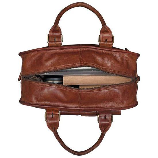 b695a2a8fb STILORD 'Dominque' Cartable en cuir pour femmes et hommes DEUX Classeurs A4  Mallette Besace Sac en Cuir d'affaires en Bandoulière - Achat / Vente  cartable ...