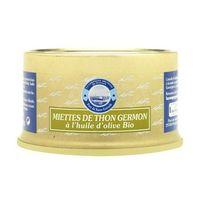 PRODUIT DE THON Miettes de thon  Germon à l'huile d'olive BIO 135