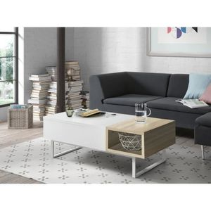 TABLE BASSE THEO Table basse relevable style contemporain - Bl