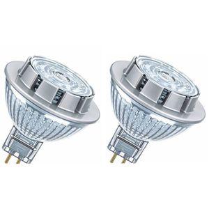 OSRAM Lot de 2 Ampoules spot LED MR16 GU5,3 7,8 W équivalent ? 50 W blanc froid dimmable