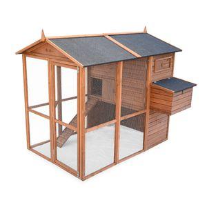 POULAILLER Poulailler en bois COTENTINE, cage à poule de 195x