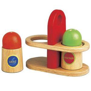 SALIERE - POIVRIERE Santoy enfants sel en bois et poivrière 3PDAKL
