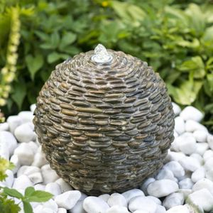fontaine de jardin en pierre achat vente fontaine de jardin en pierre pas cher soldes d s. Black Bedroom Furniture Sets. Home Design Ideas