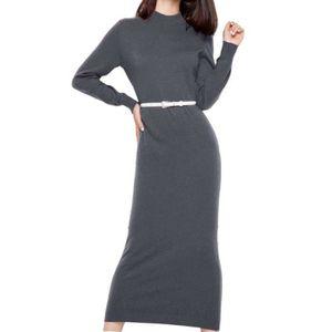 8238ec25397 ROBE Robe en laine femme longues haut col avec ceinture