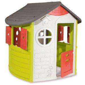 MAISONNETTE EXTÉRIEURE SMOBY Maison Enfant Jura Lodge Jeu d'Extérieur