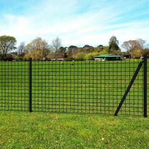 CLÔTURE - GRILLAGE Jeu de clôture avec des piquets de sol 25 x 1 m Ac