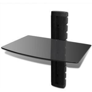 ETAGÈRE MURALE Étagère murale noire 1 tablette pour DVD