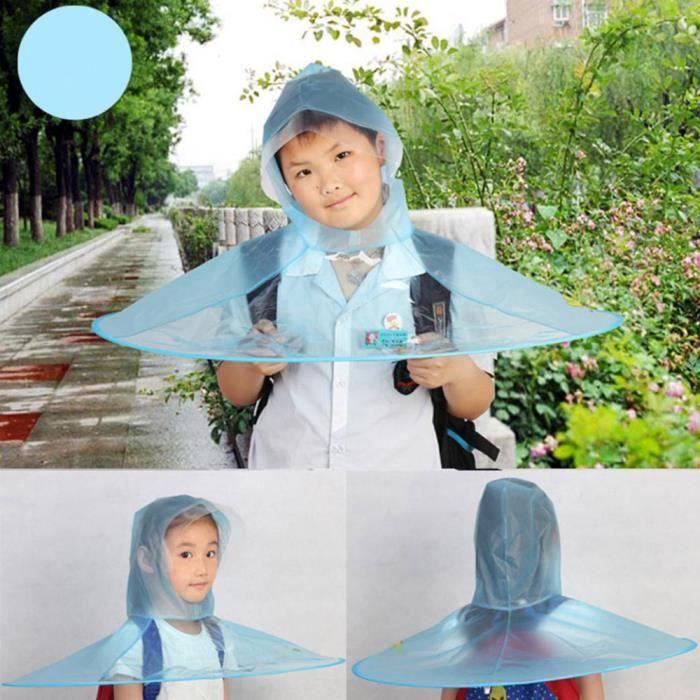 grand choix de ce284 5fd03 Pluie pliant portable manteau parapluie Chapeau mains libres pour enfants  extérieur M WR954