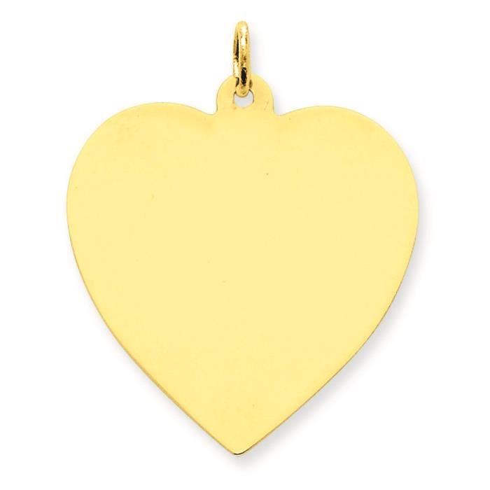 14 carats Calibre .027 Uni Coeur-Engraveable disque charme 9bNTWimy