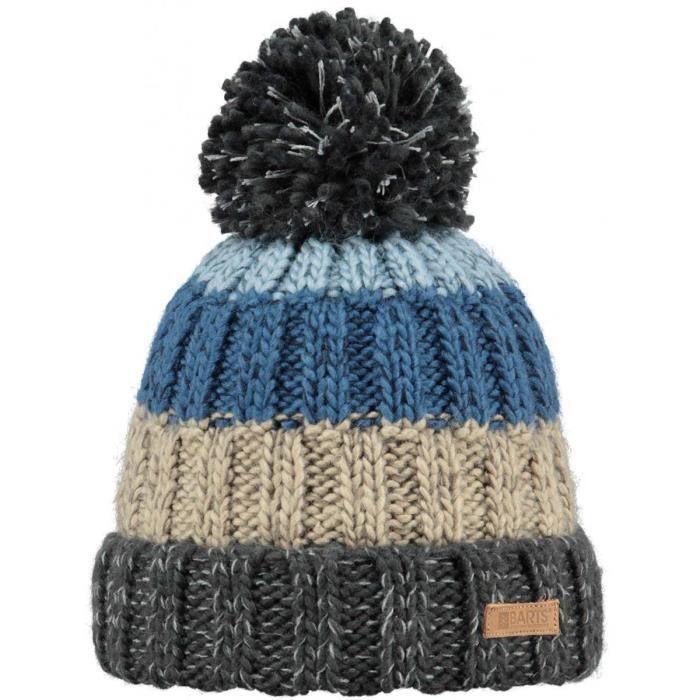 f2113378428 BARTS - Bonnet en maille gris et bleu Modèle ju... Gris - Achat ...