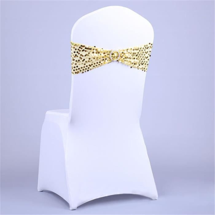 Housse Chaise Mariage Or