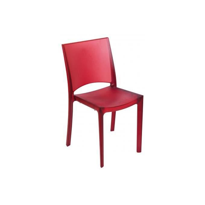 chaise rouge polycarbonate achat vente chaise rouge polycarbonate pas cher cdiscount. Black Bedroom Furniture Sets. Home Design Ideas