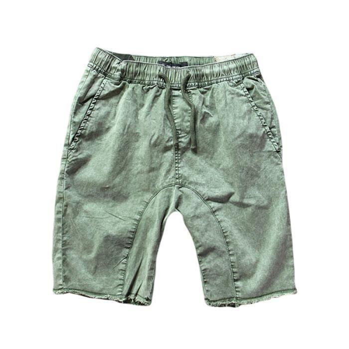 gamme de couleurs exceptionnelle 60% pas cher le meilleur Shorts en Jean Homme Taille Élastiquée Légère Bermuda Jean Homme ete