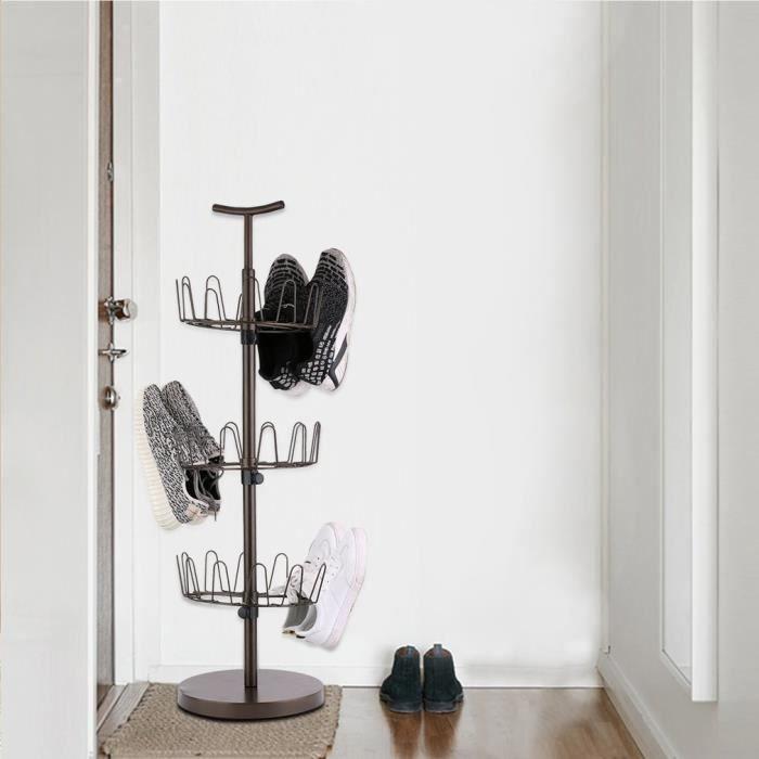 organisateur de chaussures rotatif en forme d 39 arbre pour 16 20 paires achat vente meuble. Black Bedroom Furniture Sets. Home Design Ideas