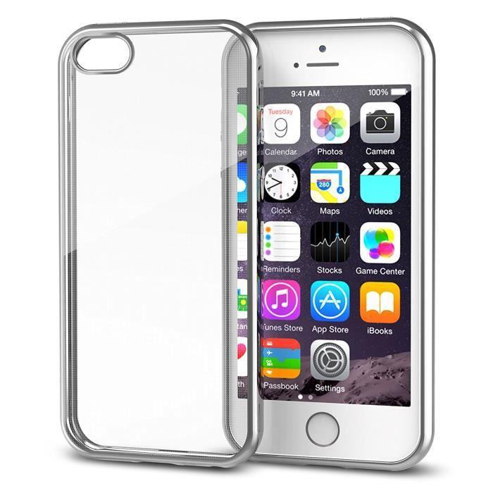 coque iphone 5 couleur argent