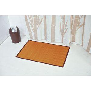 Tapis salle de bain bambou - Achat / Vente pas cher