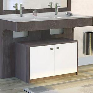 Meuble salle de bain double vasque 120 - Achat / Vente Meuble ...