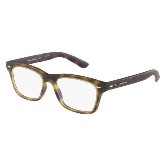 Lunettes de vue Dolce   Gabbana DG5014 -2899 Marron havane - Achat   Vente  lunettes de vue Lunettes de vue Dolce   G... Homme - Soldes  dès le 9  janvier ! 3646bc85627d