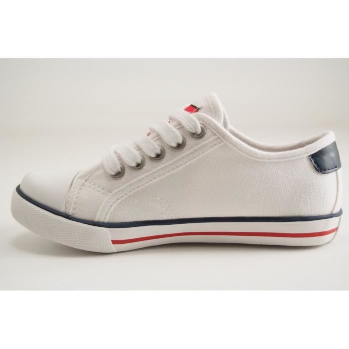 KAPORAL SHOES-SNOBY-TRAINING LACET-BLANC