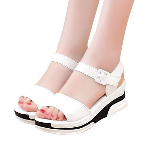 Femmes Slip On Sliders Fluffy Fausse Fourrure Plat Slipper  Flip Sandale  YLL70217522WH  Slipper  blanc Blanc Blanc - Achat / Vente slip-on 1234d4