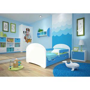Lit Enfant Dreams 70x140cm Avec Matelas Barre De Securite