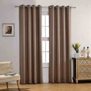 double rideaux couleur taupe achat vente double rideaux couleur taupe pas cher cdiscount. Black Bedroom Furniture Sets. Home Design Ideas