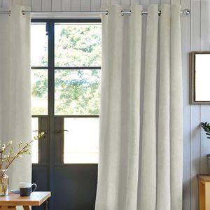 RIDEAU Rideau First Suède en suédine polyester - 140 x 25