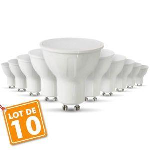 AMPOULE - LED Lot de 10 AMPOULE LED GU10 6W equivalent 40W (Blan